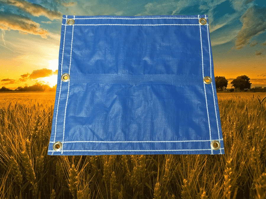 blue farm tarp