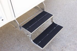 Custom Aluminum Double Entry Steps
