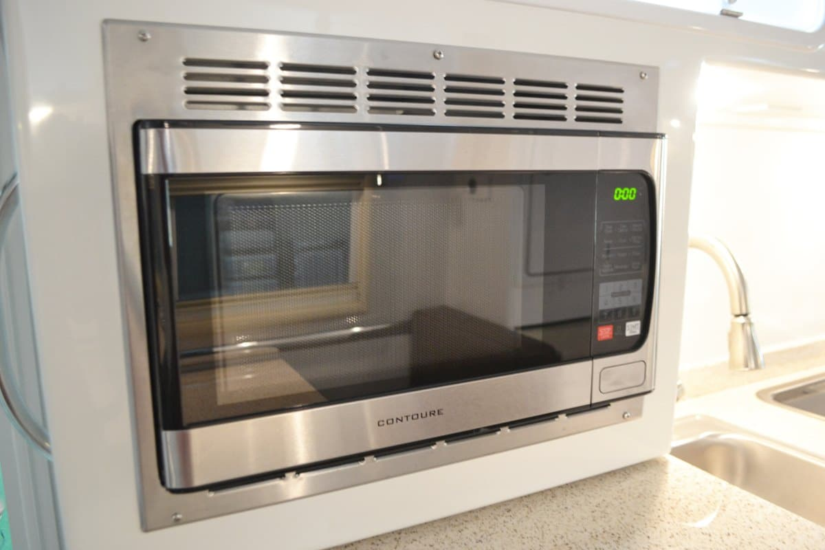 oliver travel trailers standard features contour stainless steel microwave