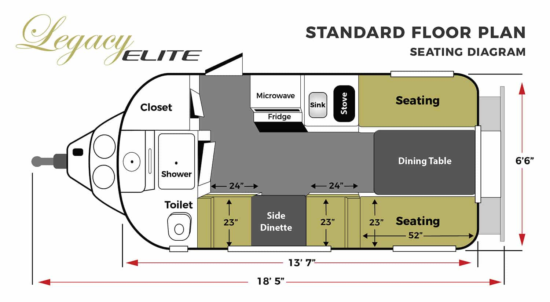 oliver travel trailers legacy elite 1 standard seating floor plan horizontal