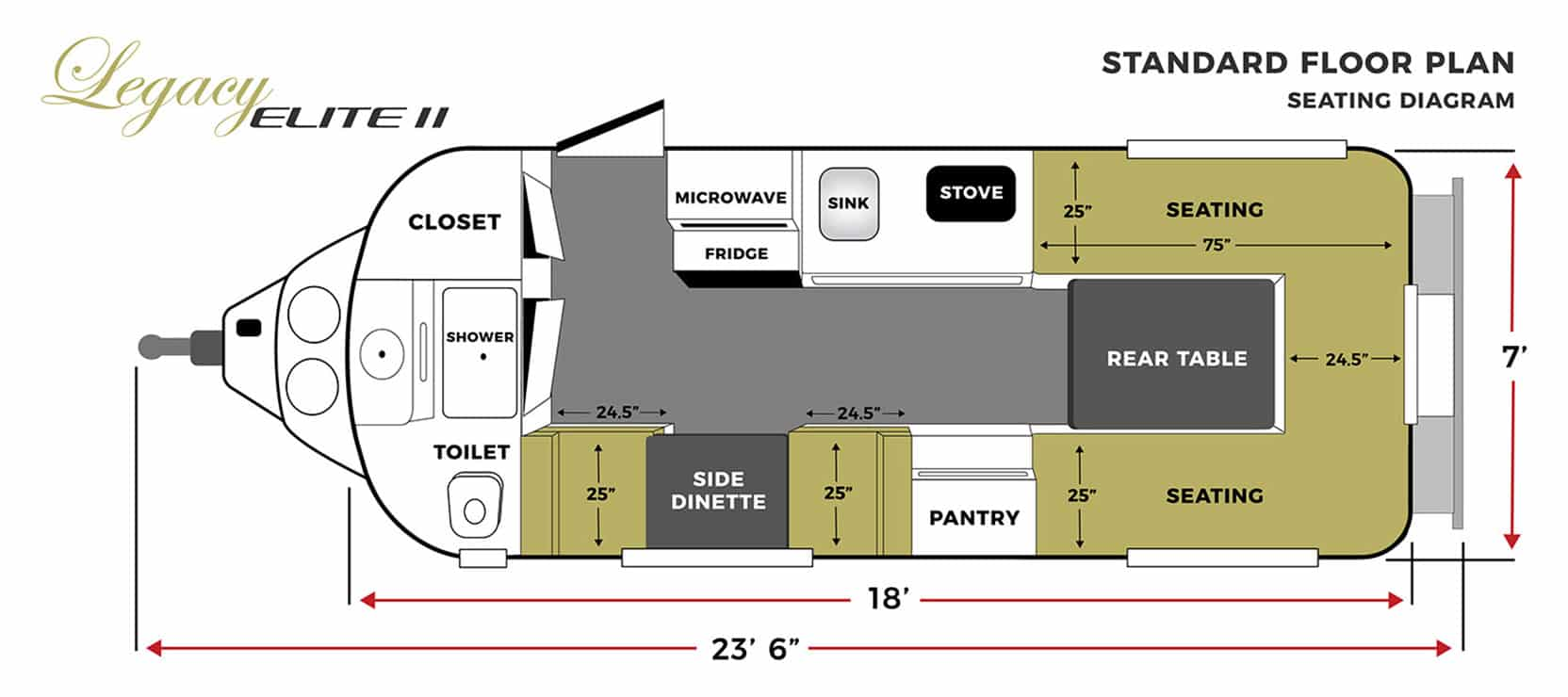 oliver travel trailers legacy elite 2 standard seating floor plan horizontal
