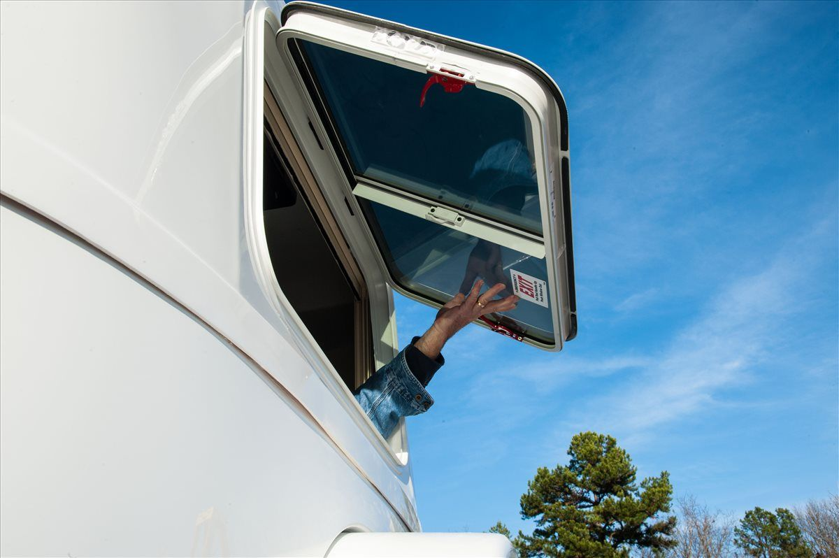 oliver travel trailers standard features emergency egress rear window