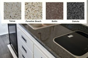 oliver travel trailers add-ons and upgrades options fiber-granite countertops