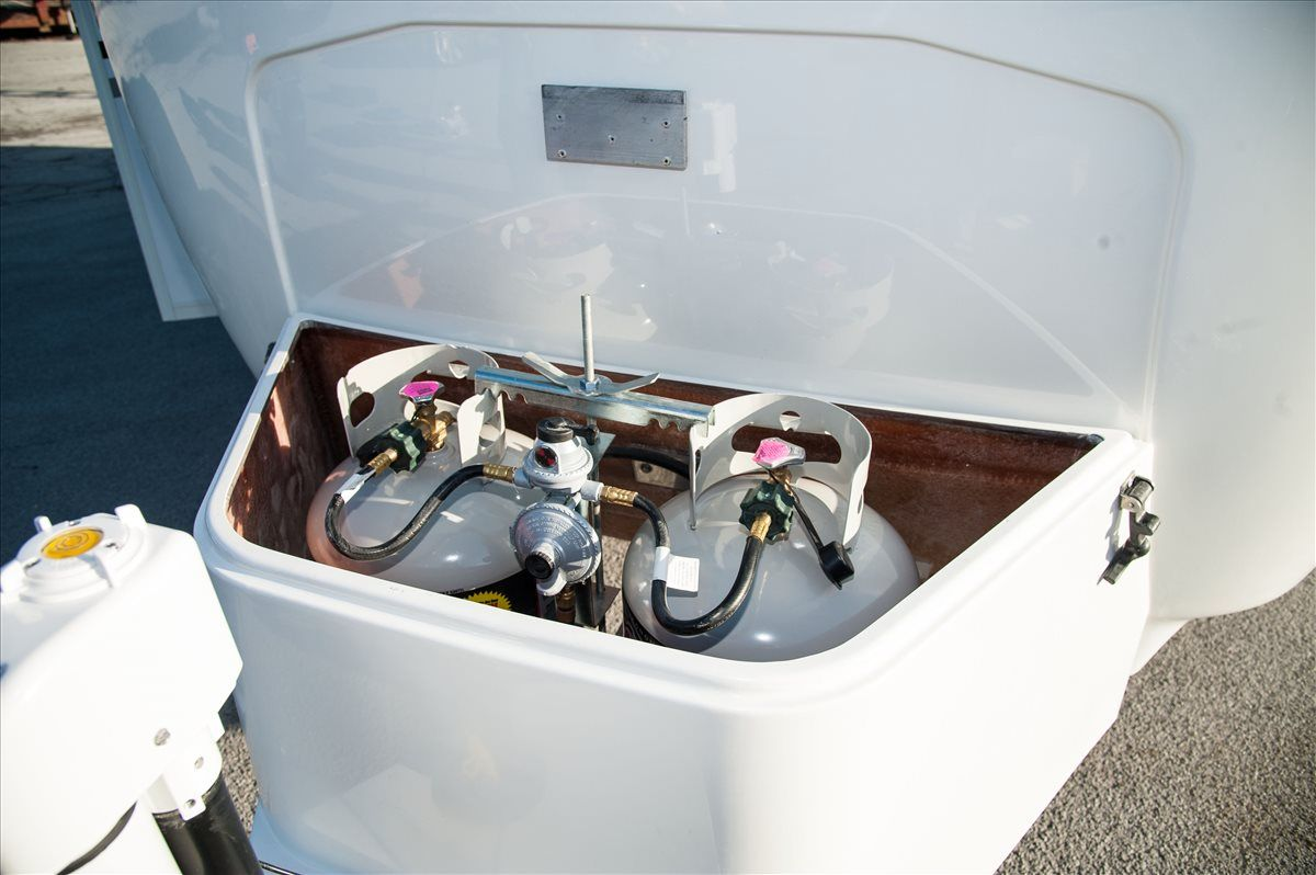 oliver travel trailers standard features propane tank storage