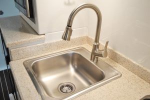 oliver travel trailers standard options sink stainless steel pullout faucet