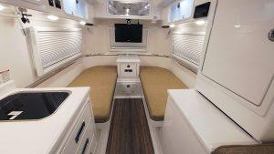 oliver travel trailers standard fiberglass bed counter tops