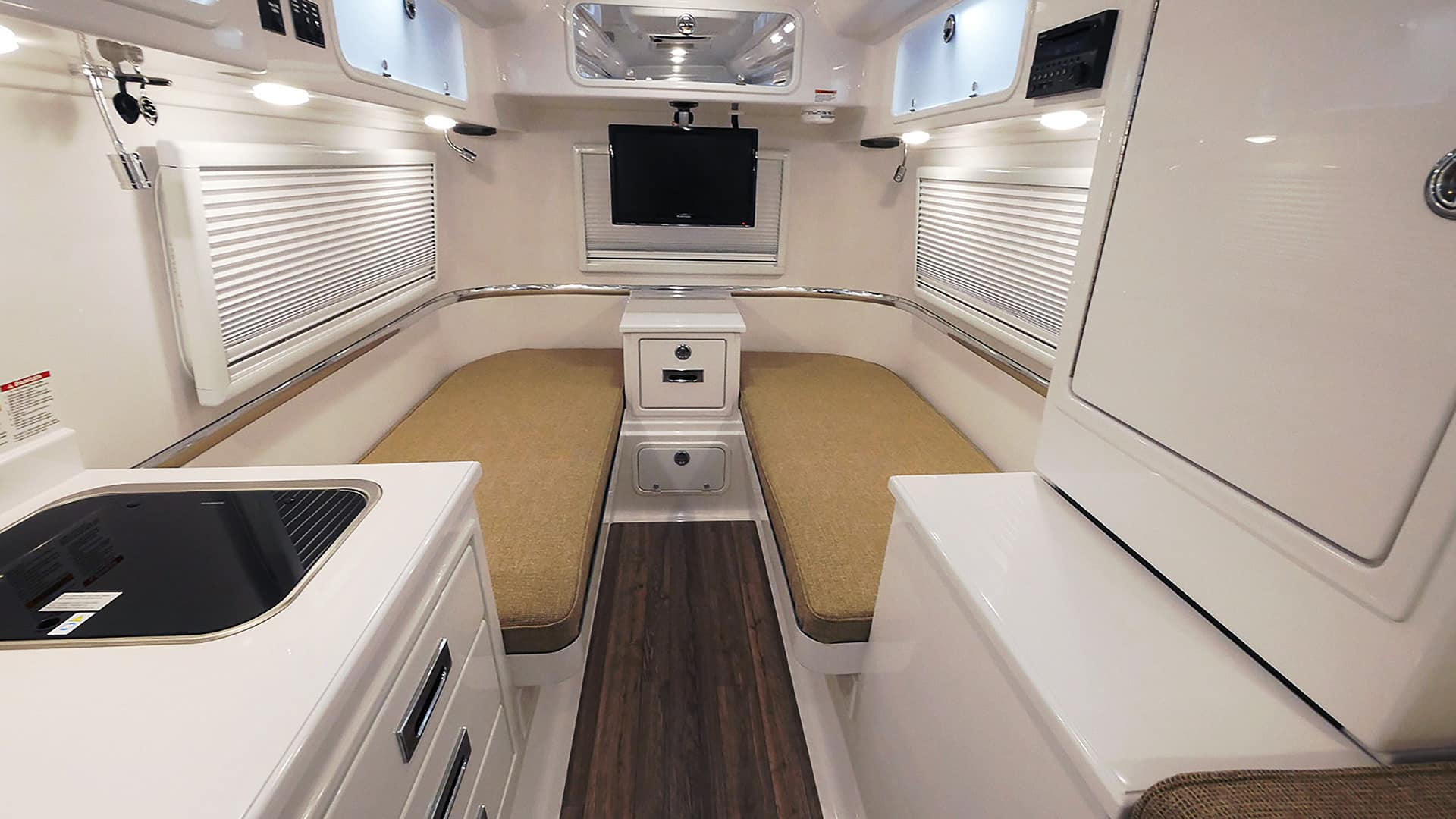 oliver travel trailers standard fiberglass bed counter tops