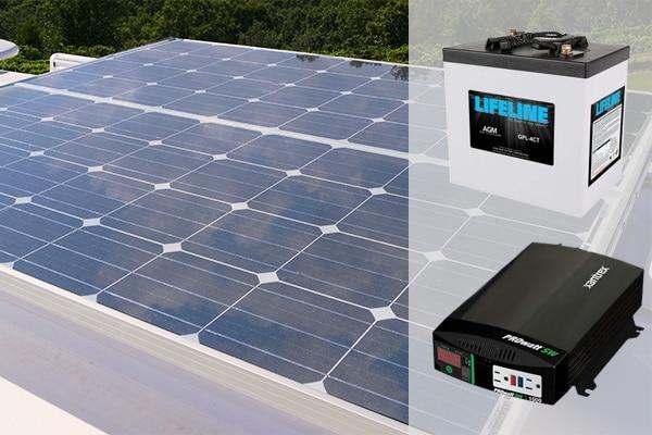 legacy elite 1 solar panel package battery inverter