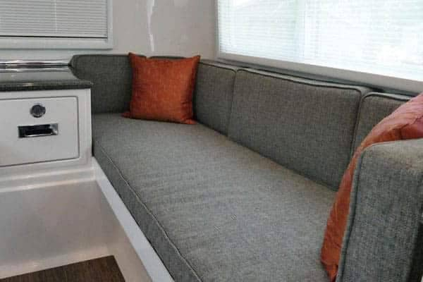 oliver travel trailers couch bed
