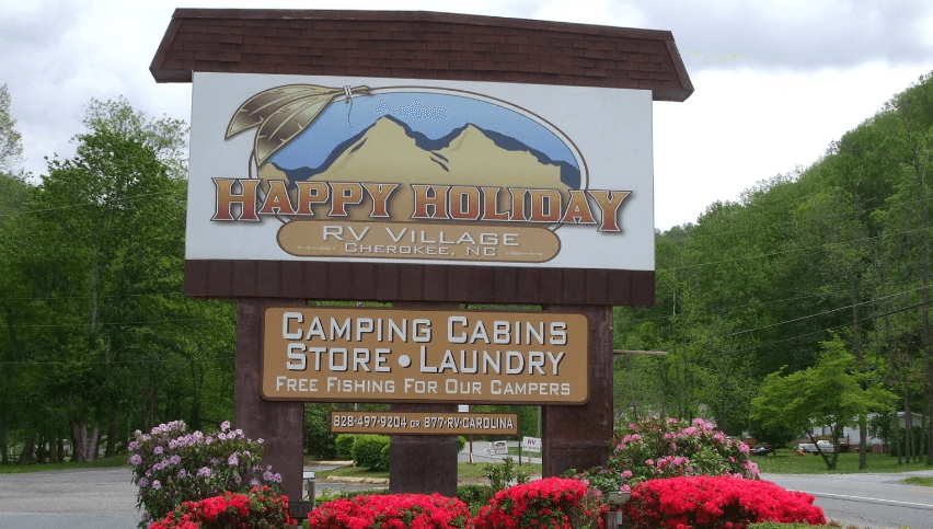 happy holiday campground cherokee nc