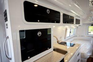 legacy elite ii travel trailer black cabinets