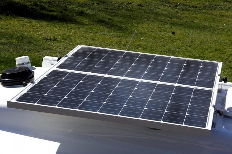 travel trailer legacy elite 2 Solar panel package battery inverter