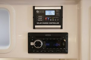 Zamp Solar Charge Controller and Jensen Radio