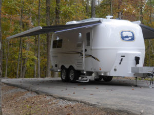 Outside View of Legacy Elite II - Dual Awnings