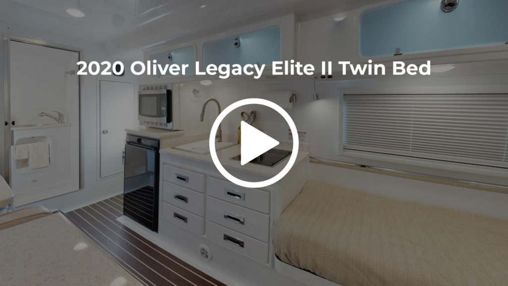 rv legacy elite II virtual tour twin bed floor plan